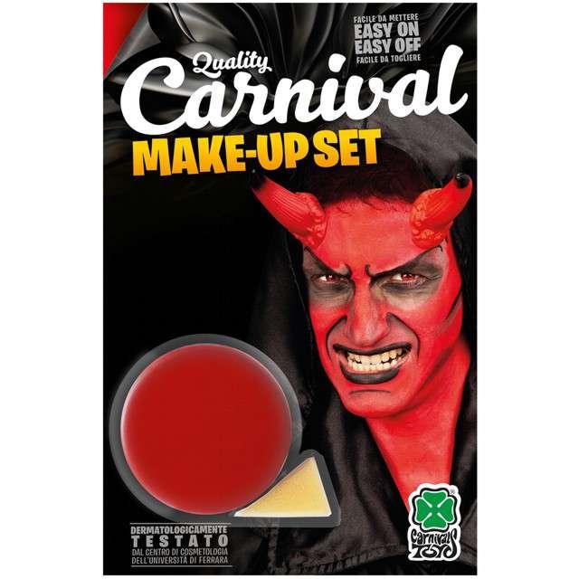 """Make-up party """"Farba do makijażu z gąbeczką"""", czerwona, Carnival Toys, 10 g"""