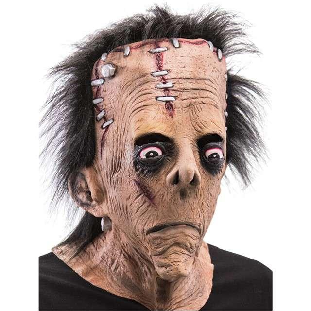 """Maska """"Frankenstein z włosami"""", lateksowa, Carnival Toys"""