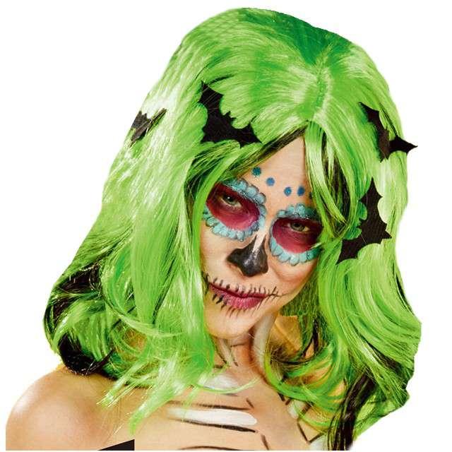 """Peruka party """"Nietoperze"""", zielona"""