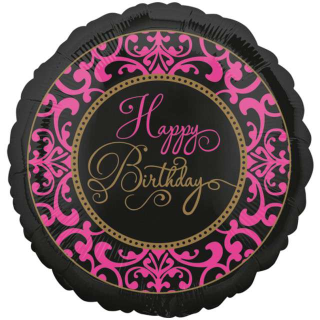 "Balon foliowy ""Happy Birthday - Fabulous Celebration"", AMSCAN, 17"" CIR"