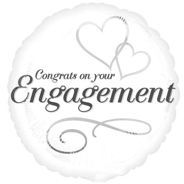"Balon foliowy ""Congrats Engagement - Ślub"", AMSCAN, 17"" SHP"