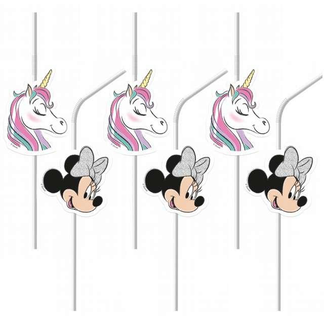 """Słomki """"Minnie Unicorn"""", PROCOS, 24 cm, 6 szt"""
