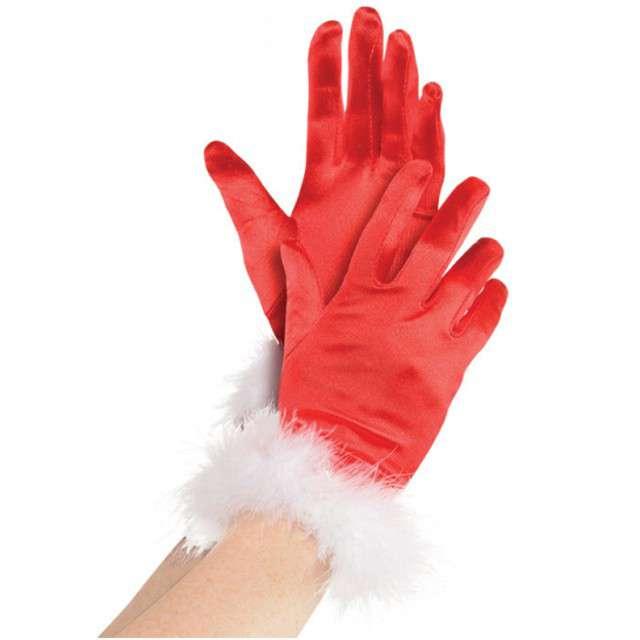 """Rękawiczki """"Święty Mikołaj"""", AMSCAN"""