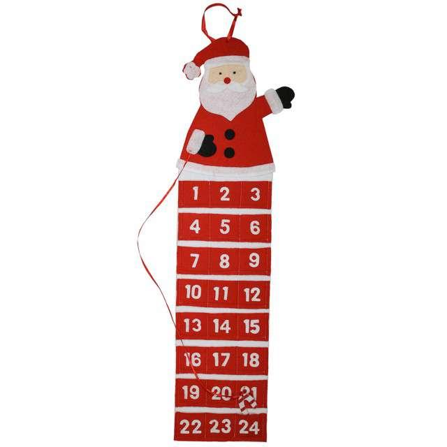 """Kalendarz adwentowy """"Święty Mikołaj"""", KRASZEK, 75 cm"""