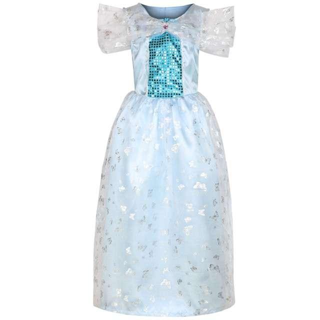 """Strój dla dzieci """"Sukienka Księżniczki"""", niebieska, KRASZEK, rozm. 130/140"""