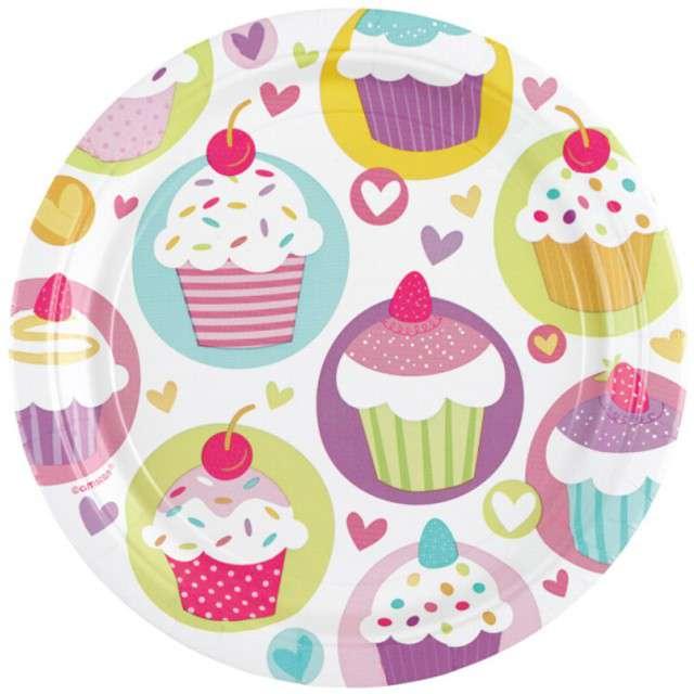"""Talerzyki papierowe """"Cupcake"""", 18 cm, 8 szt"""