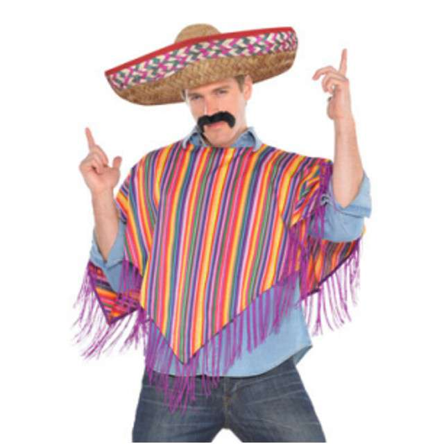 "Strój dla doroslych ""Ponczo i Sombrero Mexico"", AMSCAN, rozm. XL"
