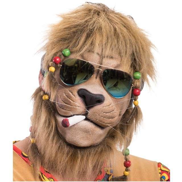 "Maska party ""Lew Hipis"", lateksowa, Carnival Toys"