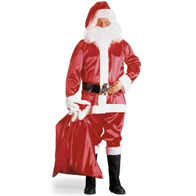 """Strój dla dorosłych """"Święty Mikołaj"""", satynowy, CARNIVAL TOYS, rozm. L/XL"""