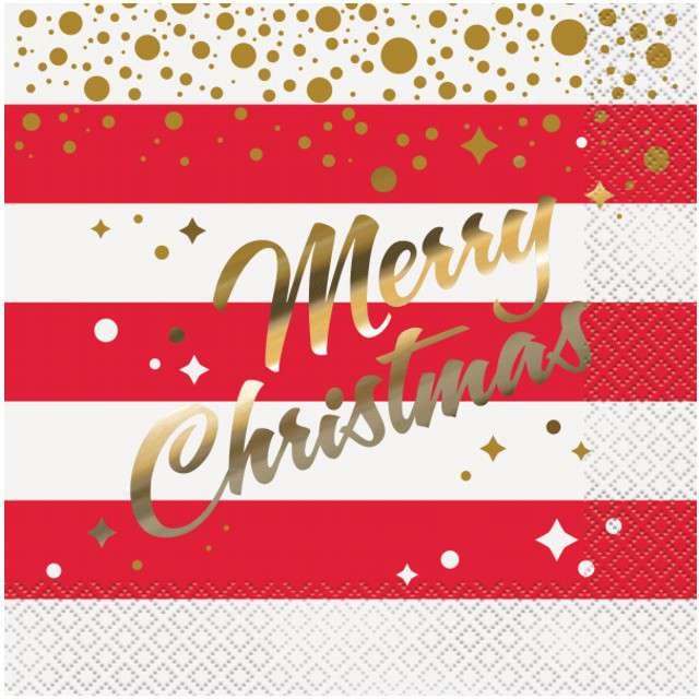 "Serwetki ""Merry Christmas"", UNIQUE, 33 cm, 16 szt"