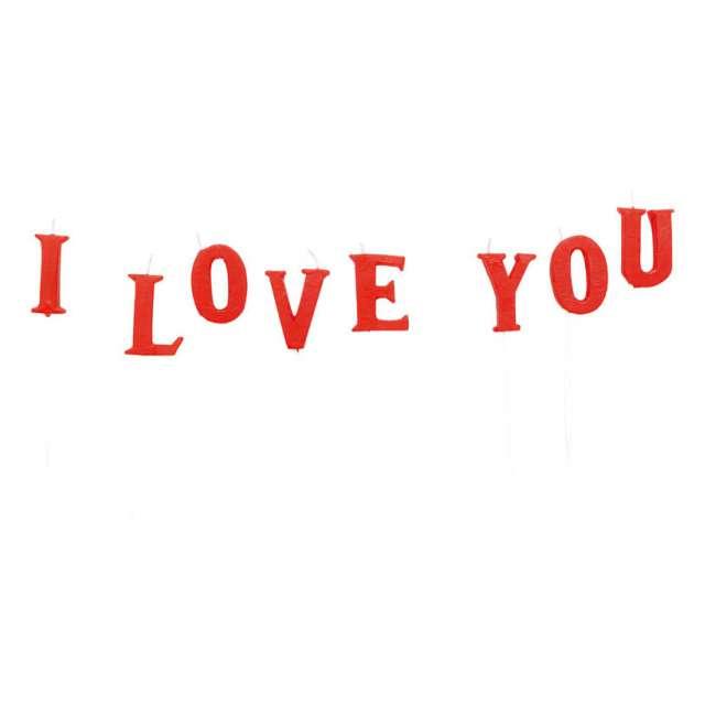 """Świeczki na tort """"I Love You"""", AMSCAN, 8 szt"""