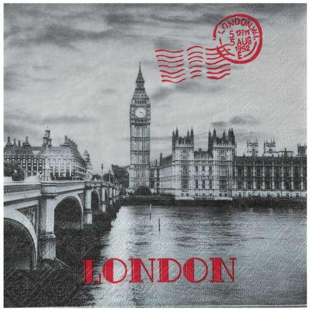 "Serwetki ""Londyn"", Santex, 33 cm, 20 szt"