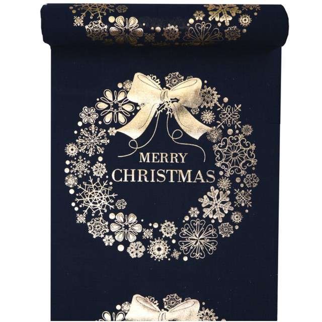 "Bieżnik ""Merry Christmas, granatowy"", SANTEX, 300 x 28 cm"