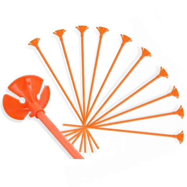 """Patyczki do balonów """"Standard pomarańczowe"""", VIPER, 30 cm, 10 szt"""
