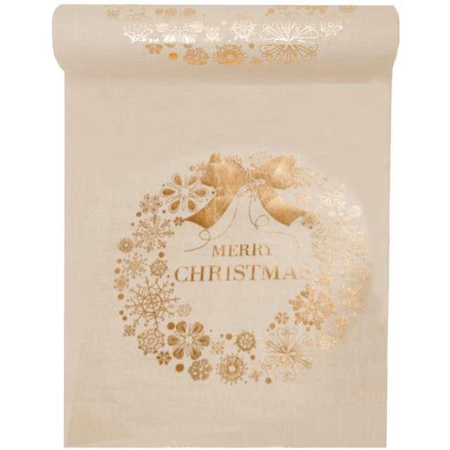 "Bieżnik ""Merry Christmas, natural"", SANTEX, 300 x 28 cm"