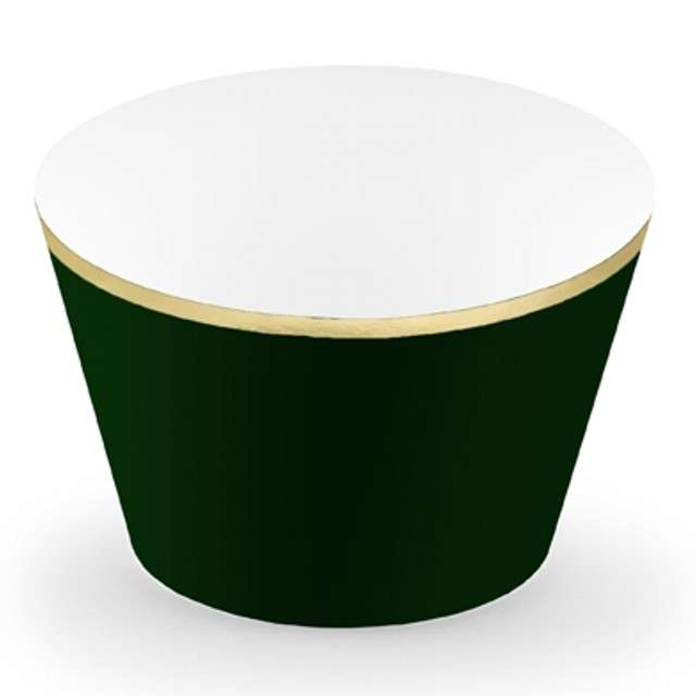 """Papilotki na muffinki """"Classic"""", zielony butelkowy, 6 szt"""