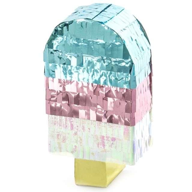 """Dekoracja mini piniata """"Lód na patyku"""", PartyDeco, rozm. 11,5x6 cm"""