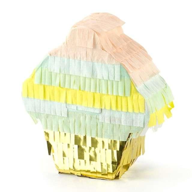 """Dekoracja mini piniata """"Muffinka"""", PartyDeco, rozm. 10x9 cm"""
