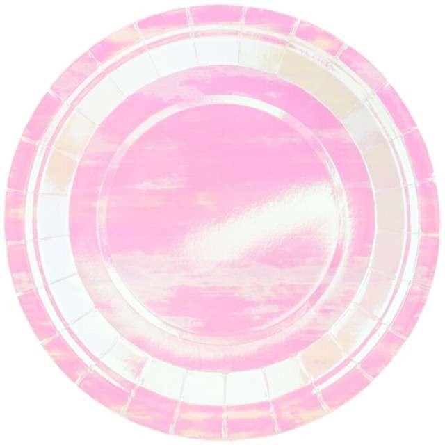 """Talerzyki papierowe """"Shiny Premium"""", PartyDeco, opalizujące, 23 cm, 6 szt"""