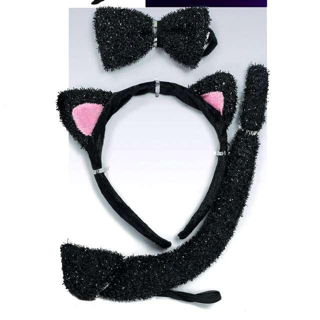 """Zestaw """"Kotek dla dzieci"""", czarny, AMSCAN"""