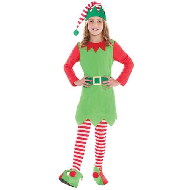 """Strój dla dzieci """"Świąteczna Elfka"""", AMSCAN, rozm. 8-10 lat"""