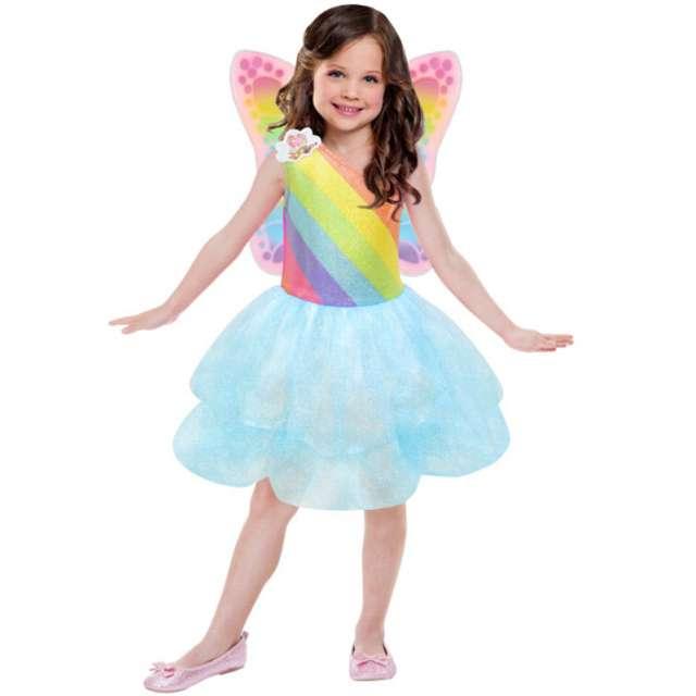 """Strój dla dzieci """"Tęczowa Barbie"""", AMSCAN, rozm. 5-7 lat"""