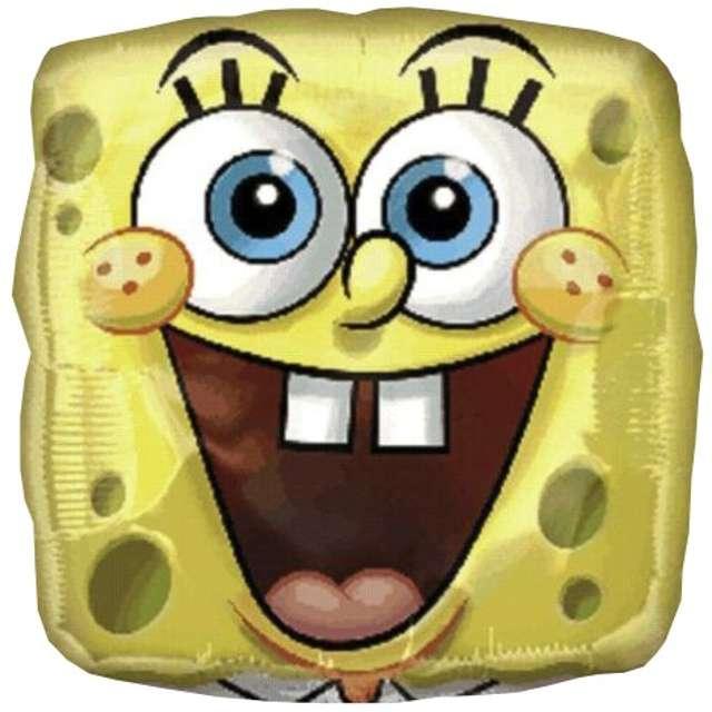 "Balon foliowy ""Sponge Bob"", AMSCAN, 18"" SQR"