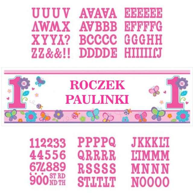 """Dekoracja foliowa """"Happy Birthday - Roczek"""", AMSCAN, 165x50 cm"""