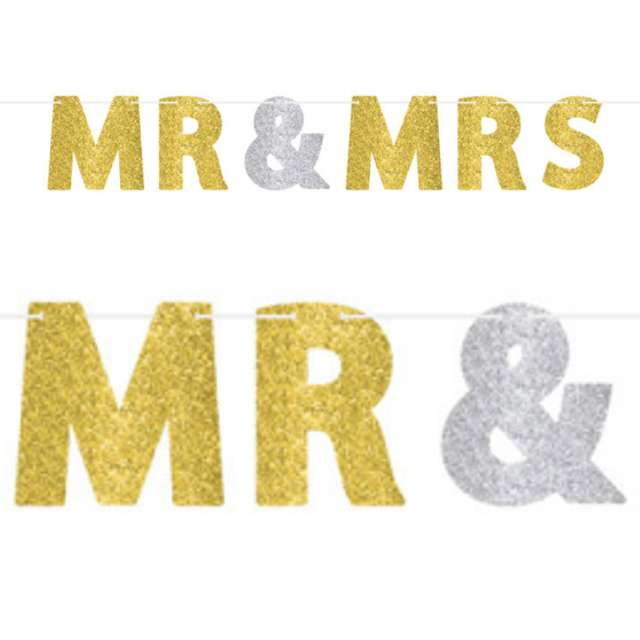 "Baner ""Mr i Mrs"", AMSCAN, 365 cm"