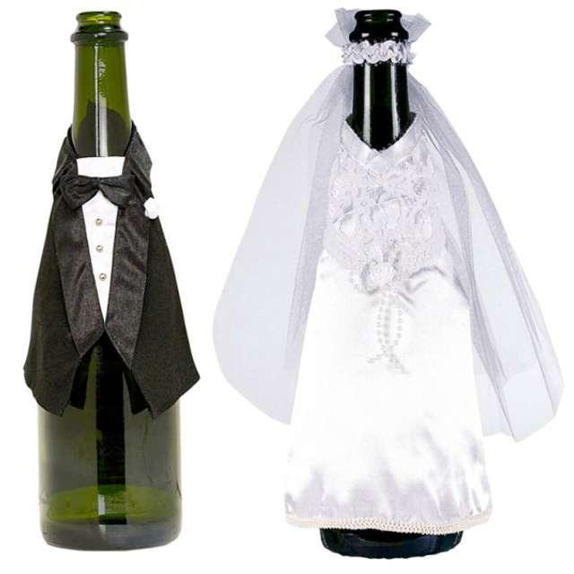 "Ubranka na butelkę ""Młoda Para"", AMSCAN"