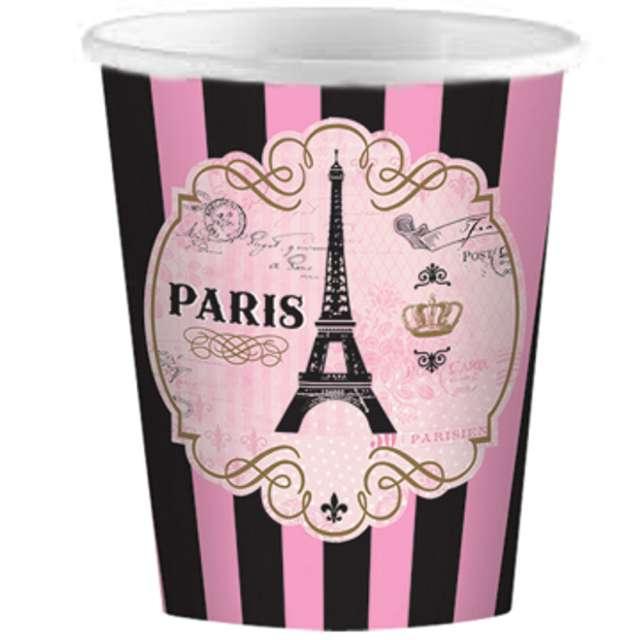 "Kubeczki papierowe ""A Day In Paris"", AMSCAN, 266 ml, 8 szt"