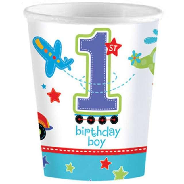 """Kubeczki papierowe """"Birthday Boy"""", AMSCAN, 266 ml, 8 szt"""