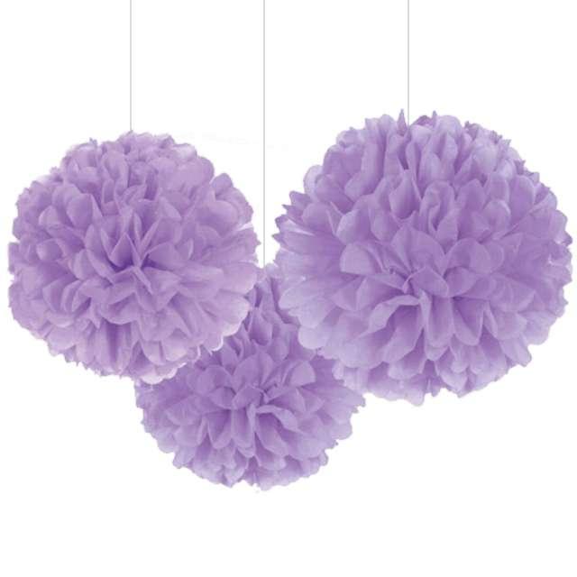 """Pompon bibułowy """"Classic"""", fioletowy, 40.6 cm, 3 szt"""