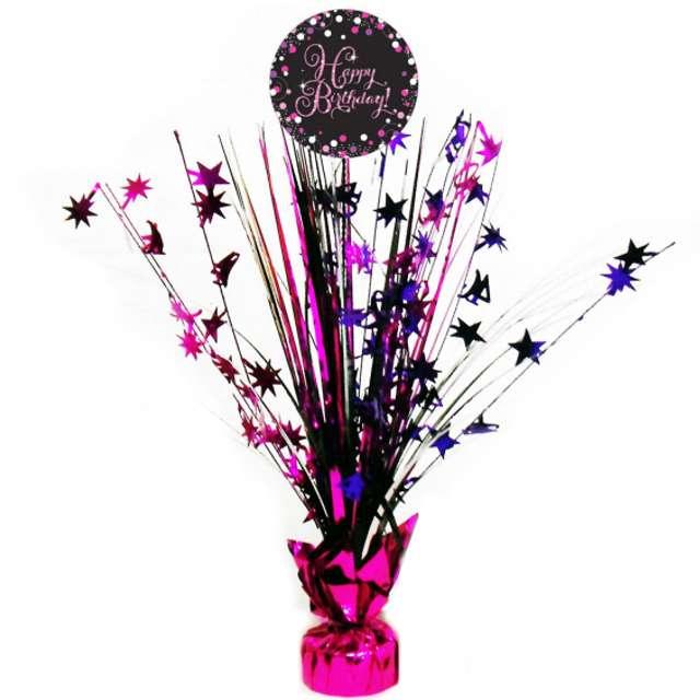 """Obciążnik do balonów """"Bukiet Happy Birthday"""", AMSCAN, różowy, 250 g"""