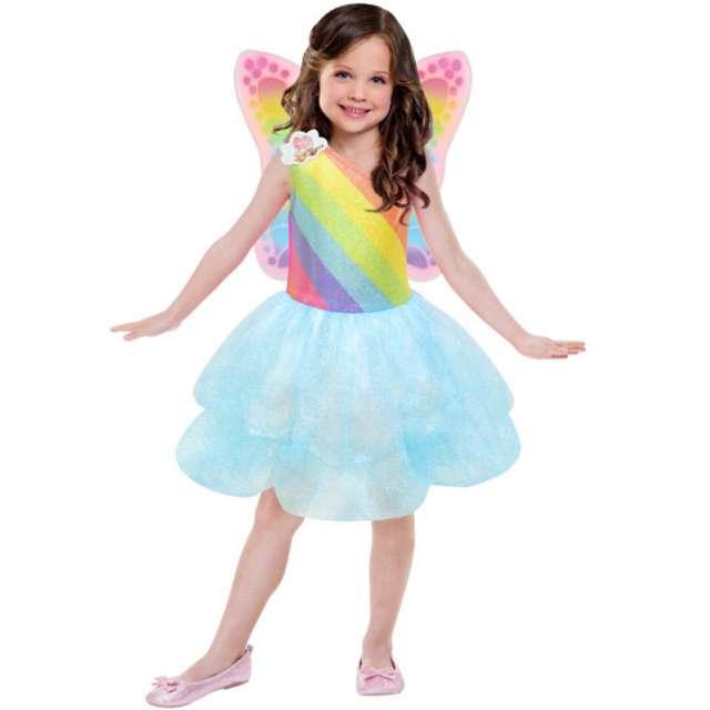 """Strój dla dzieci """"Tęczowa Barbie"""", AMSCAN, rozm. 3-5 lat"""