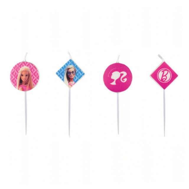 """Świeczki na tort """"Barbie Sparkle"""", AMSCAN, 4 szt"""