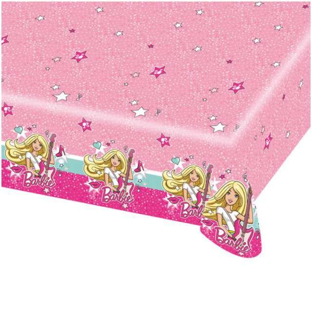 """Obrus foliowy """"Barbie Popstar"""", AMSCAN, 180x120 cm"""