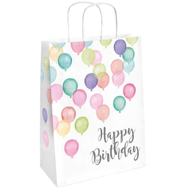 "Torebka prezentowa ""Happy Birthday Pastel"", AMSCAN, 2 szt"