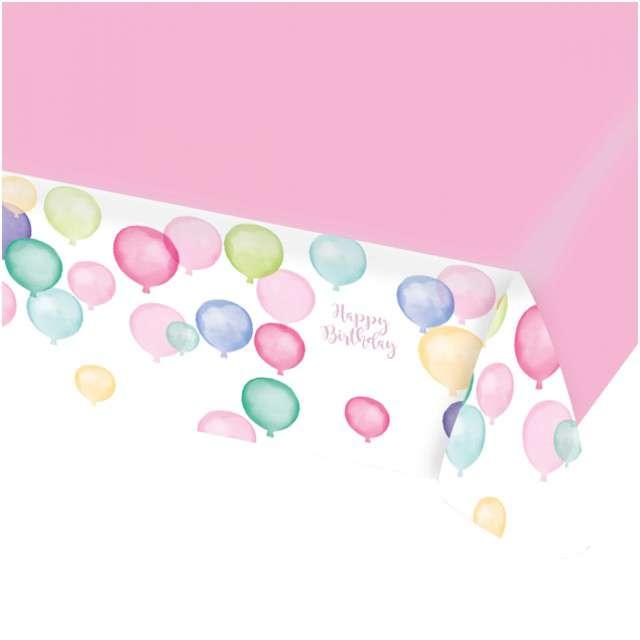 "Obrus papierowy ""Happy Birthday Pastel"", AMSCAN, 175x115 cm"