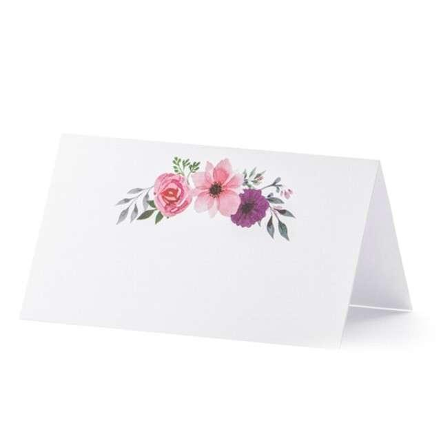 """Wizytówka na stół """"Kwiaty Lux"""", PartyDeco, 25 szt"""