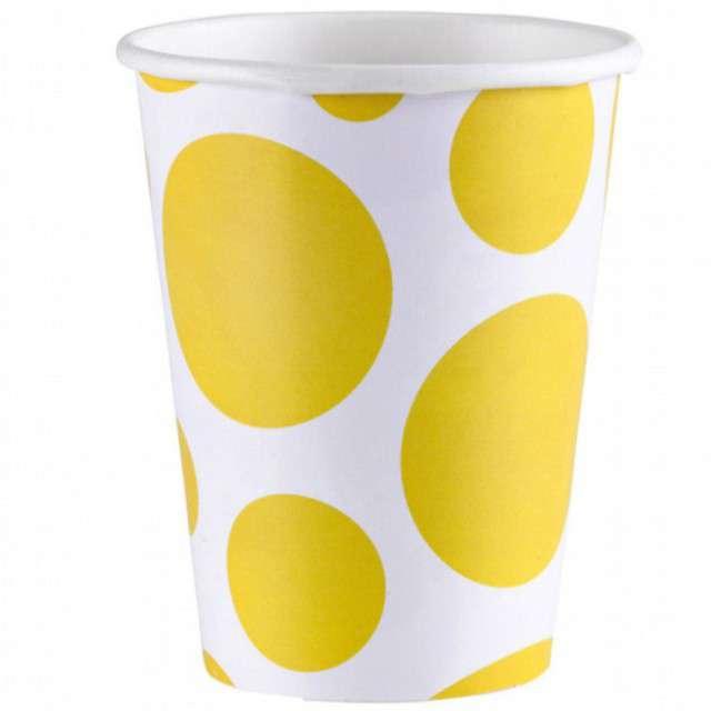 """Kubeczki papierowe """"Kropki"""", AMSCAN, 266 ml, 8 szt"""