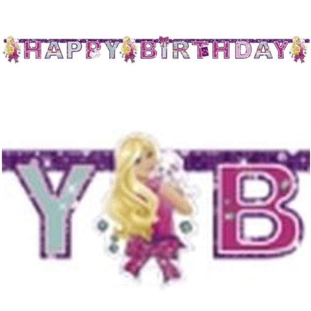 "Baner ""Barbie Happy Birthday"", AMSCAN, 180 cm"