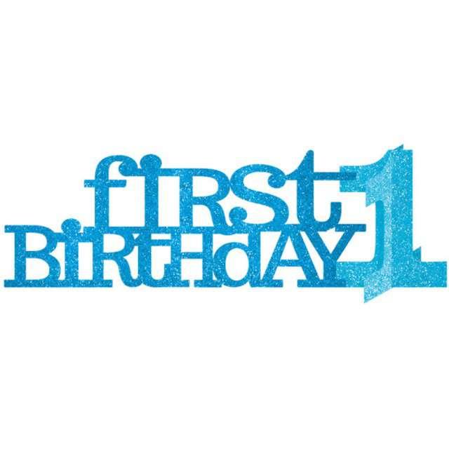 """Dekoracja """"First Birthday - Baby Shower Boy"""", Amscan, 35,6 cm"""