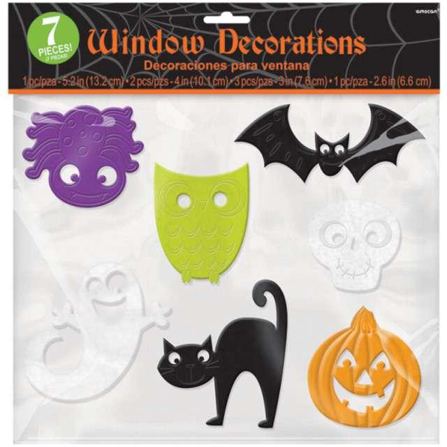 """Dekoracja na okno """"Halloween"""", AMSCAN, 7 szt"""