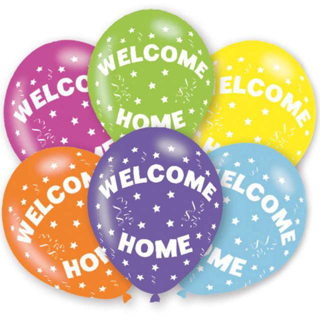 "Balony "" Welcome Home"", mix, AMSCAN, 11"", 6 szt"