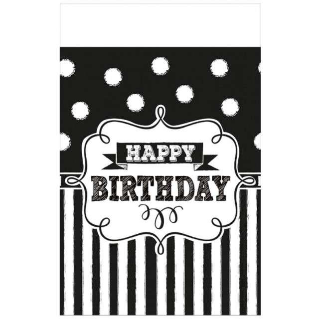 """Obrus foliowy """"Chalkboard Birthday"""", AMSCAN, 243x137 cm"""