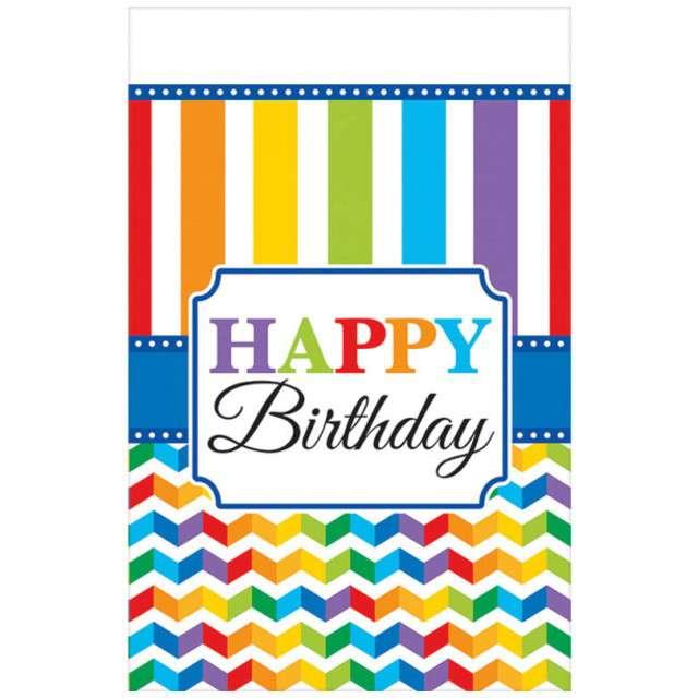 "Obrus ""Happy Birthday - Tęcza"", 137 x 243 cm, Amscan"