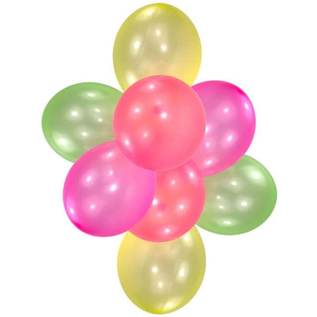 """Balon """"Neonowe"""", mix, Amscan, 10"""", 8 szt"""