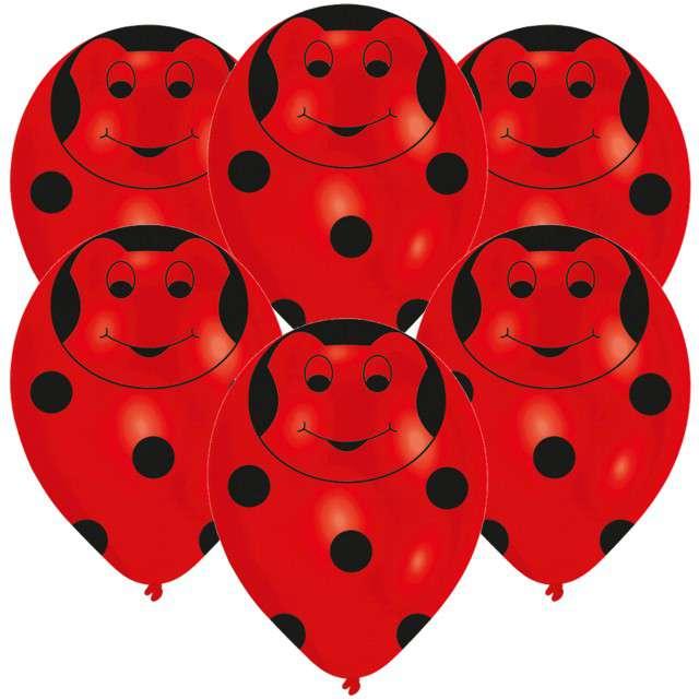 """Balony """"Biedronka"""", czerwony, AMSCAN, 11"""" 6 szt"""