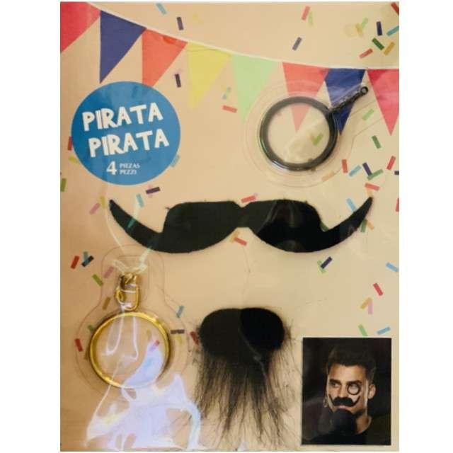 """Wąsy party """"Wąsy Elegancki Pirat"""", czarny"""